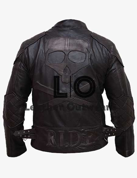 Men-Skull-Embossed-Biker-Brown-Leather-Jacket