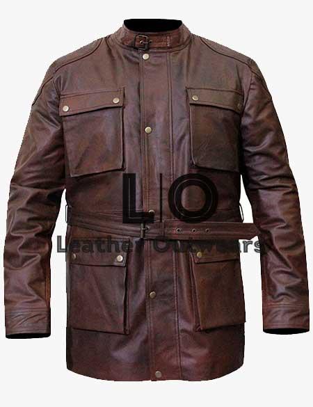 Belstaff-Brown-Distressed-Belted-Jacket