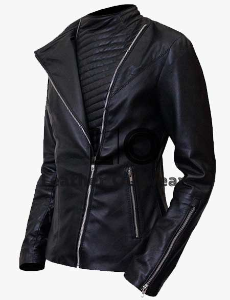 Power-Angela-Valdes-Black-Leather-Jacket