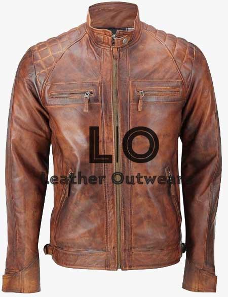 Man-Distressed-Brown-Quiltd-Leather-Jacket