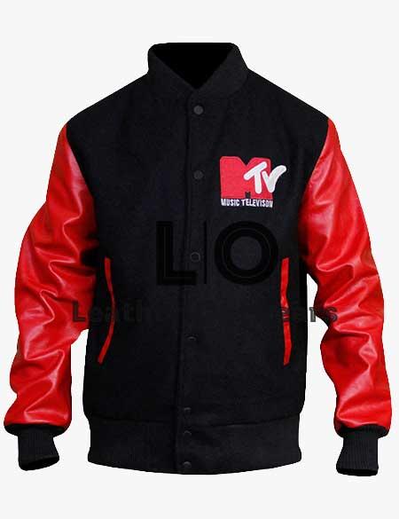 Robert-Pattinson-MTV-Bomber-Leather-Jacket