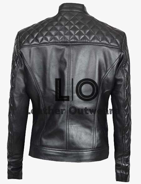 Women-Slim-fit-Quilted-Black-Jacket