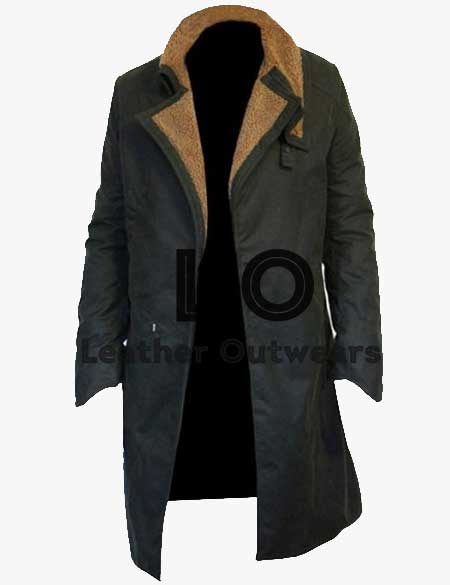 Blade-Runner-2049-Ryan-Gosling-Green-Cotton-Coat