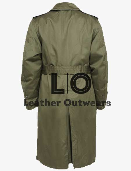 Green-Military-US-Army-M-65-Field-Belted-Coat