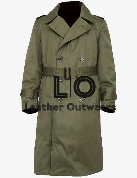 Green-Military-US-Army-M-65-Field-Trench-Coat