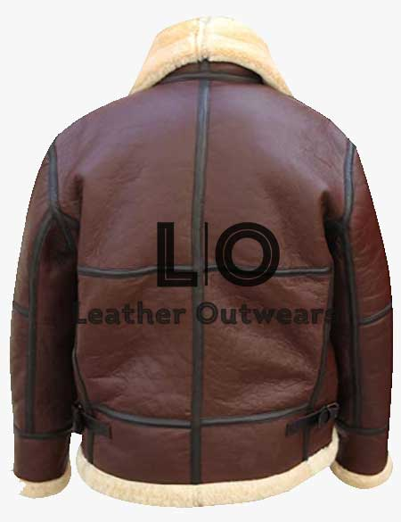 Mens-RAF-B3-Aviator-WWII-Flight-Pilot-Fur-Shearling-Leather-Jacket
