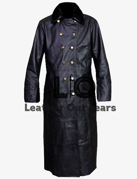 WW2-German-Waffen-SS-Elite-Military-Officers-Leather-Coat