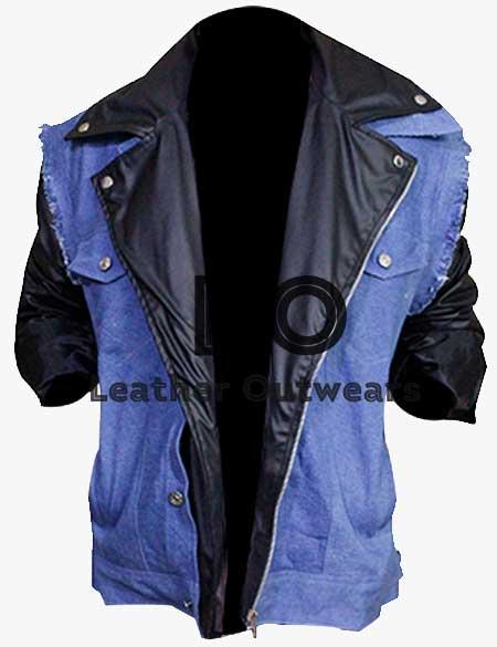 WWE-Super-Star-Triple-H-Denim-Leather-Jacket