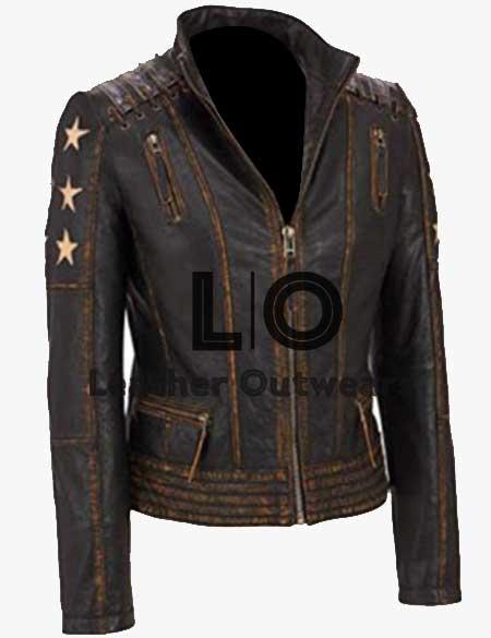 Women-Cafe-Racer-Star-Distressed-Jacket