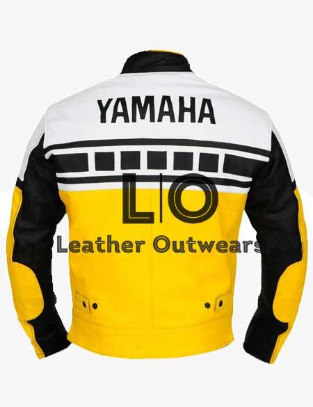 Yamaha-Yellow-Biker-Leather-Jacket