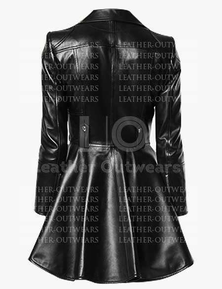 Women-Peplum-Black-Leather-Jacket