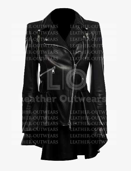 Women-Peplum-Leather-Jacket
