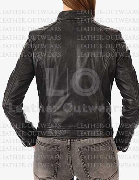 Female-Slim-Fit-Biker-Black-Leather-Jacket
