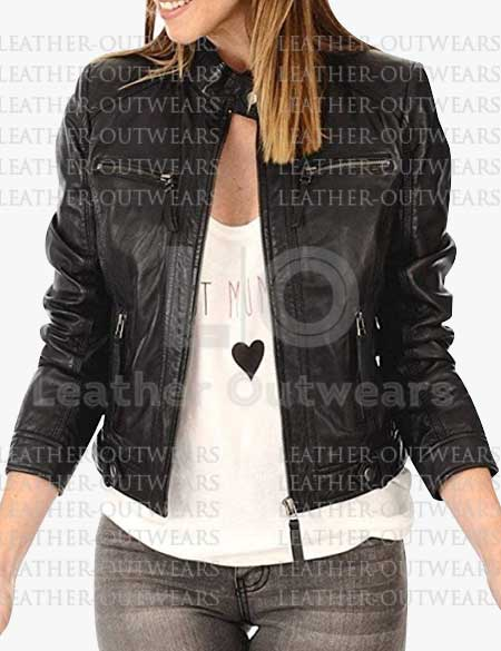 Women-Black-Biker-Slim-Fit-Leather-Jacket