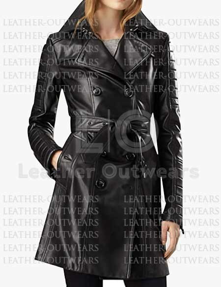 Women-Black-Quilted-Leather-Long-Coat