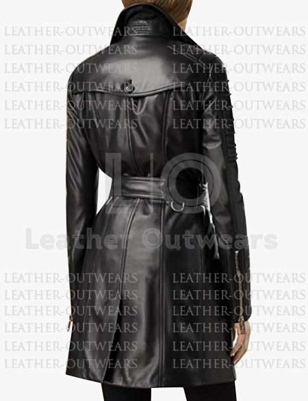Women-Black-Quilted-Leather-Long-Trench-Coat
