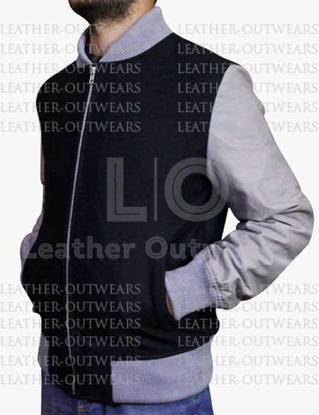 Casual-Black-&-Grey–Letterman-Varsity-Jacket