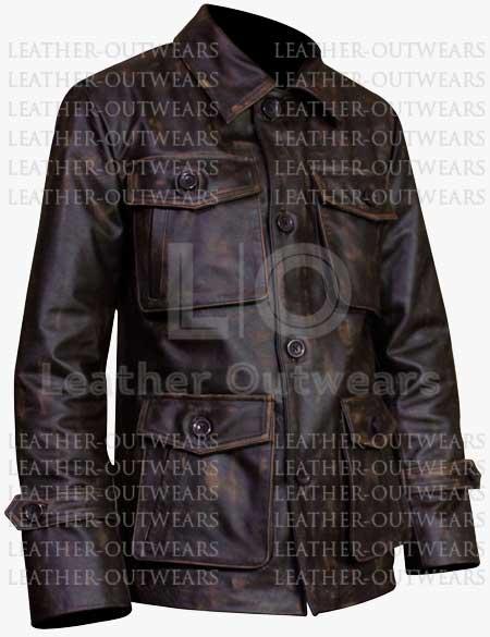 Men-Distressed-Brown-Four-Pocket-Leather-Jacket