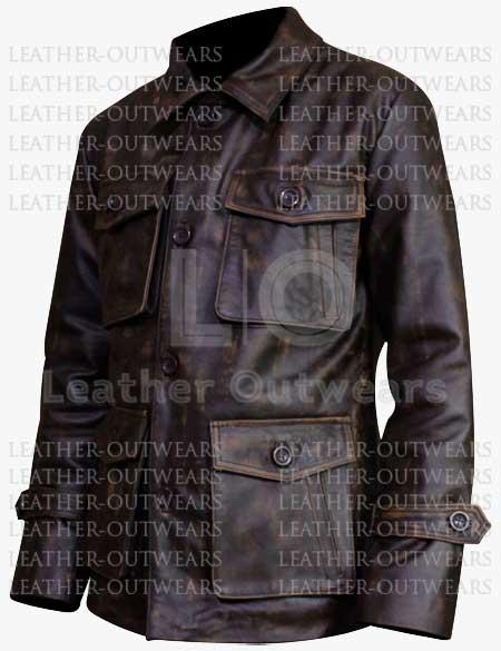 Men-Distressed-Four-Pocket-Leather-Jacket