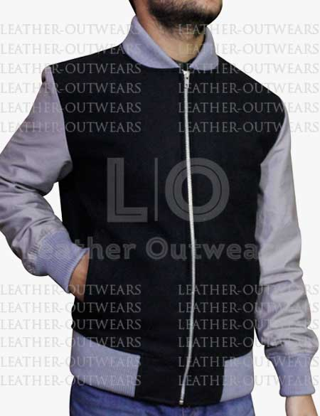 Black-and-Grey-Bomber-Leather-Jacket