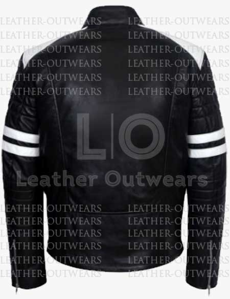 Fight-Club-White-Stripes-Brad-Pitt-Mayhem-Black-Leather-Jacket