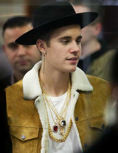 Justin-Bieber-Brown-Suede-Shearling-Leather-Jacket