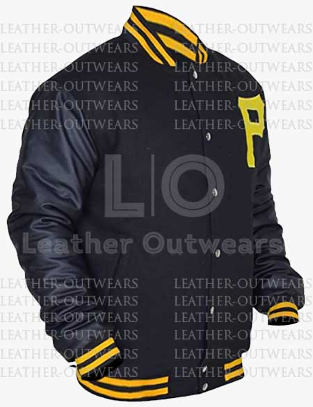 Pittsburgh-Pirates-Letterman-Leather-Jacket