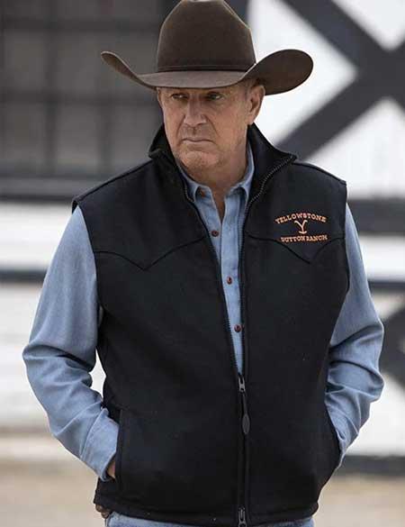 Yellowstone-John-Dutton-Black-Vest