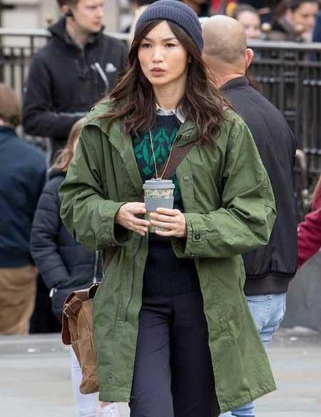 The-Eternals-Gemma-Chan-Green-Winter-Coat