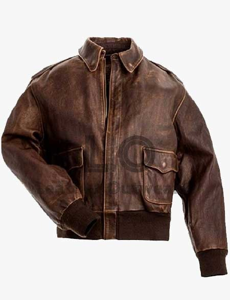 A-2-Leather-Bomber-Brown-Leather-Jacket