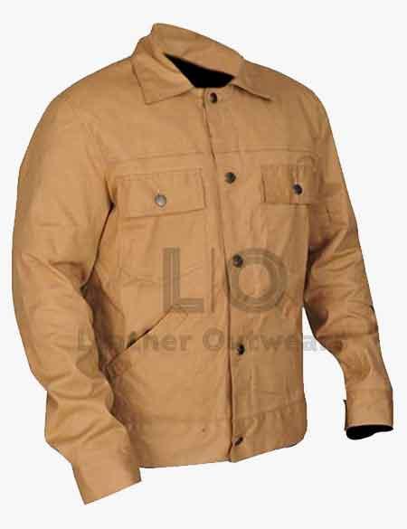 A-Star-is-Born-Bradley-Cooper-Khaki-Cotton-Jackets