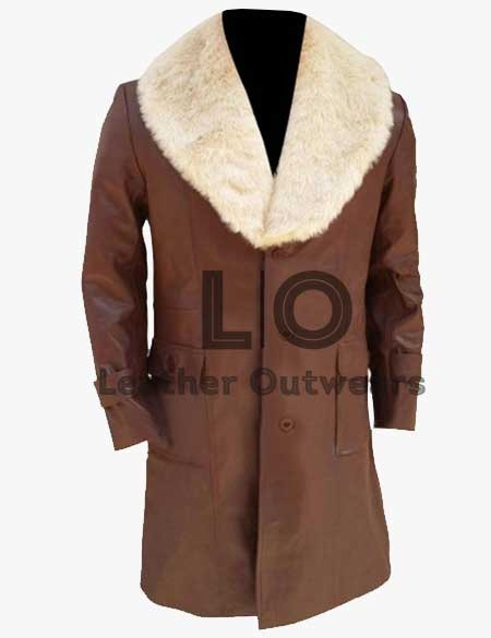 Anchorman-2-Will-Ferrell-Brown-Leather-Coat