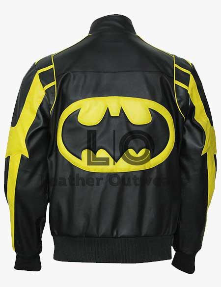 Black-Yellow-Biker-Leather-Padded-Batman-X-Men's-Motorcycle-Faux-Leather-Jacketsss