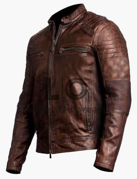 CAFE-RACER-BROWN-BIKER-MOTORCYCLE-VINTAGE-JACKETs