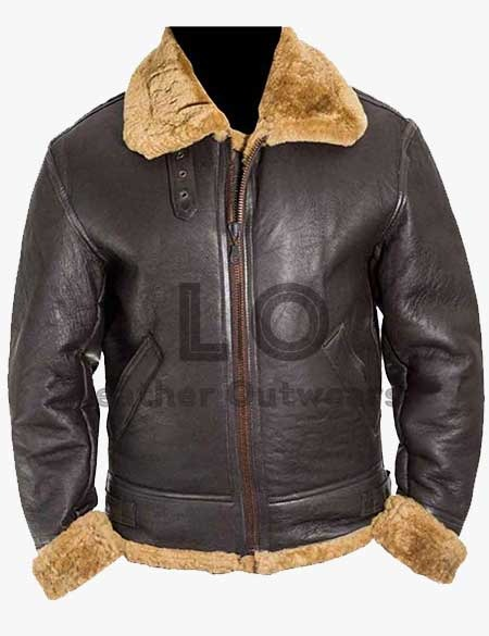 Dunkirk-Tom-Hardy-Fur-Leather-Jacket
