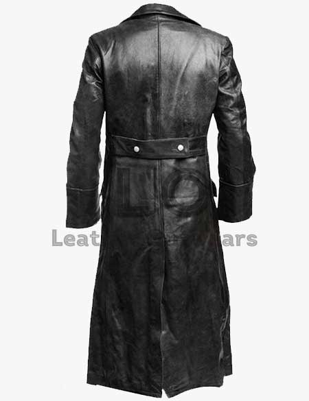 German-Classic-officer-Military-Black-Leather-Coat