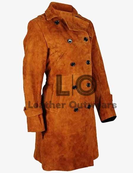 Lucifer Lauren-German-Suede-Brown-Leather-Coat