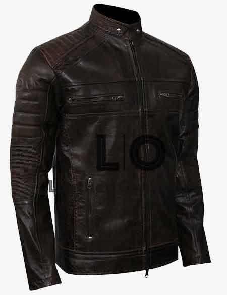 Vintage-Cafe-Racer-Dark-Brown-Leather-Jackets